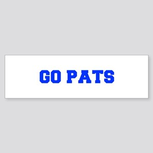 Go Pats-Fre blue Bumper Sticker