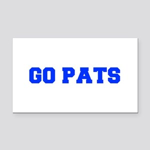 Go Pats-Fre blue Rectangle Car Magnet