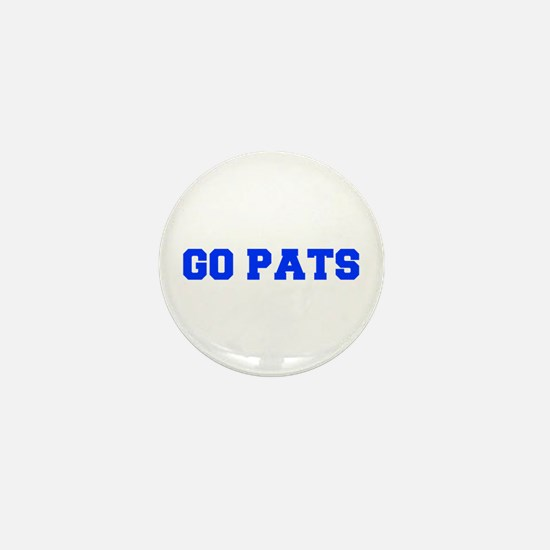 Go Pats-Fre blue Mini Button