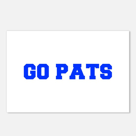Go Pats-Fre blue Postcards (Package of 8)