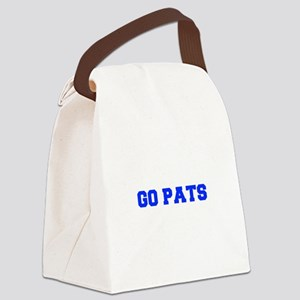 Go Pats-Fre blue Canvas Lunch Bag