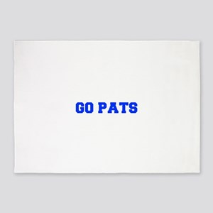 Go Pats-Fre blue 5'x7'Area Rug