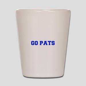 Go Pats-Fre blue Shot Glass