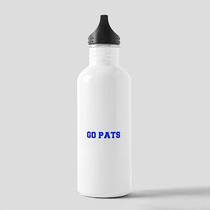 Go Pats-Fre blue Water Bottle