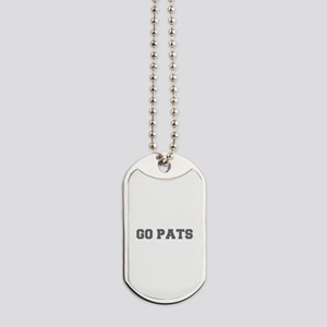 GO PATS-Fre gray Dog Tags