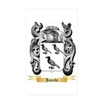 Janicki Sticker (Rectangle 50 pk)