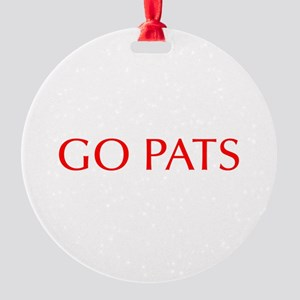 Go Pats-Opt red Ornament
