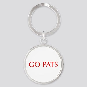 Go Pats-Opt red Keychains