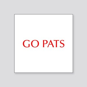 Go Pats-Opt red Sticker
