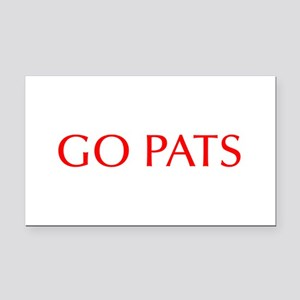 Go Pats-Opt red Rectangle Car Magnet