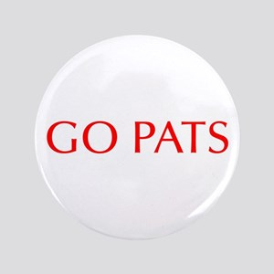 """Go Pats-Opt red 3.5"""" Button"""