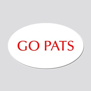 Go Pats-Opt red Wall Decal