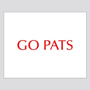Go Pats-Opt red Posters