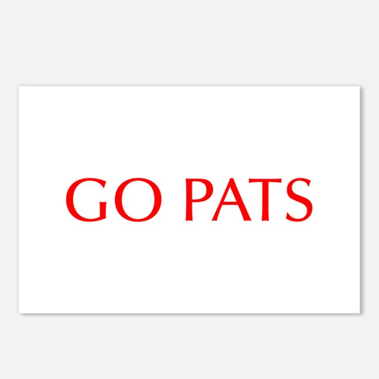 Go Pats-Opt red Postcards (Package of 8)