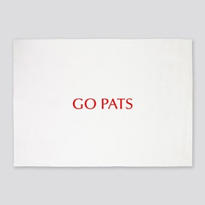 Go Pats-Opt red 5'x7'Area Rug