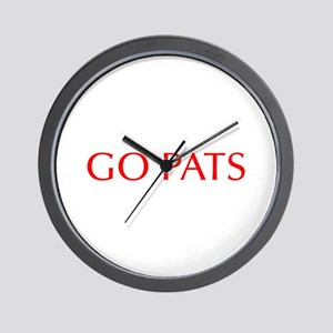 Go Pats-Opt red Wall Clock