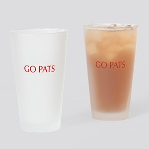 Go Pats-Opt red Drinking Glass