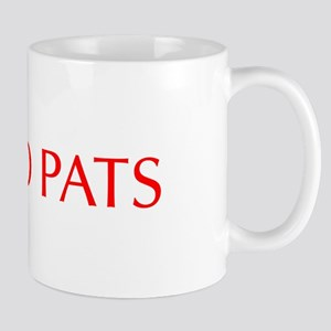 Go Pats-Opt red Mugs