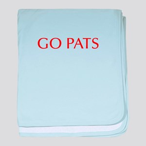 Go Pats-Opt red baby blanket
