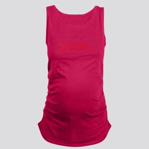 Go Pats-Opt red Maternity Tank Top
