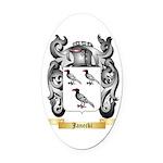 Janecki Oval Car Magnet