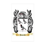Janecki Sticker (Rectangle 50 pk)