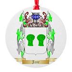 Jane Round Ornament