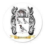 Jandourek Round Car Magnet