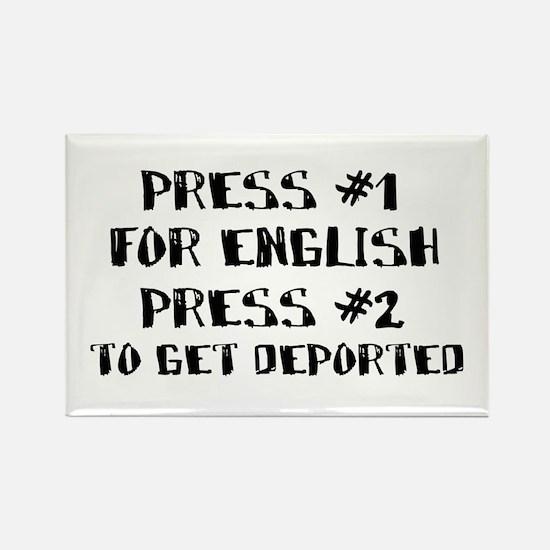 English or deportation Rectangle Magnet