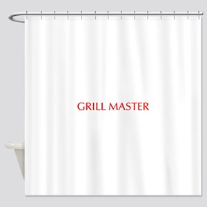 Grill Master-Opt red Shower Curtain