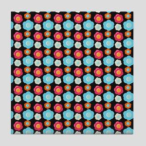 Bright Pretty Folwer Pattern Tile Coaster
