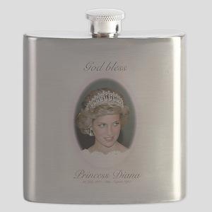 God Bless Princess Diana Flask
