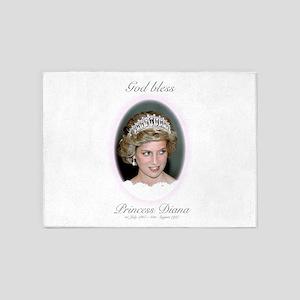 God Bless Princess Diana 5'x7'Area Rug