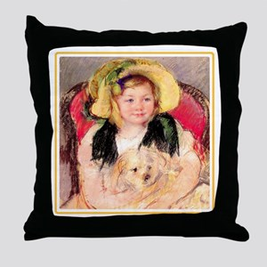 SARA & PET DOG Throw Pillow