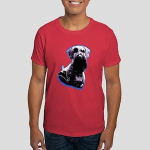 giant schnauzer natural ear Dark T-Shirt