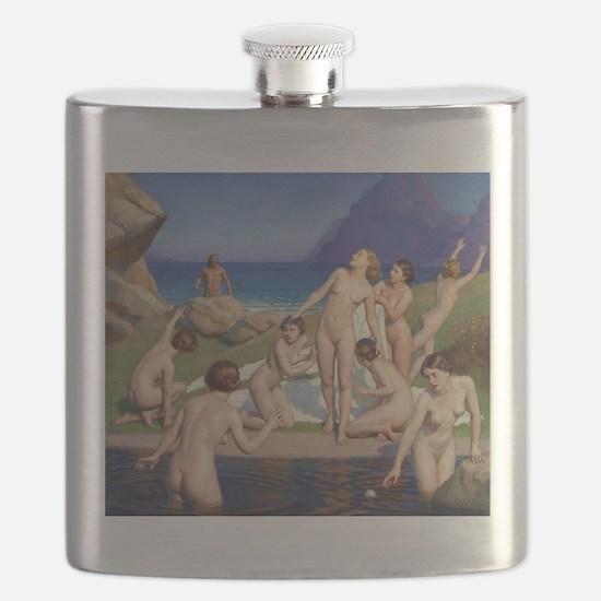 Classic nude art Flask