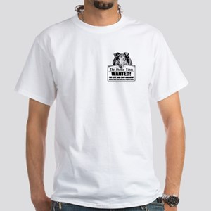Wanted Sheltie Tee, White, 100% Cotton