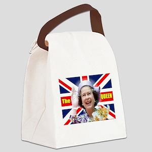 HM Queen Elizabeth II Great Brito Canvas Lunch Bag