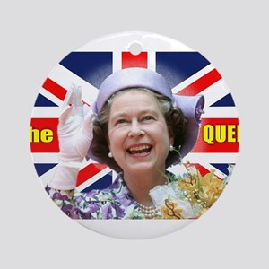 HM Queen Elizabeth II Great Brito Ornament (Round)