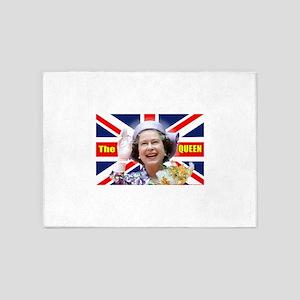 HM Queen Elizabeth II Great Britons 5'x7'Area Rug