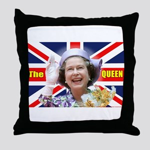 HM Queen Elizabeth II Great Britons! Throw Pillow
