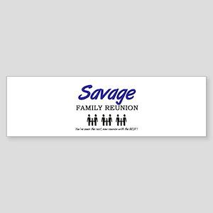 Savage Family Reunion Bumper Sticker