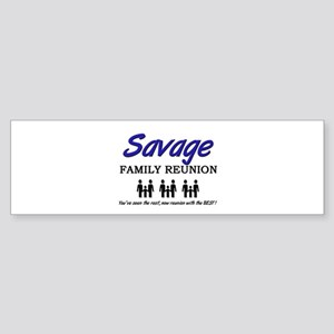 Savage Family Reunion Bumper Sticker