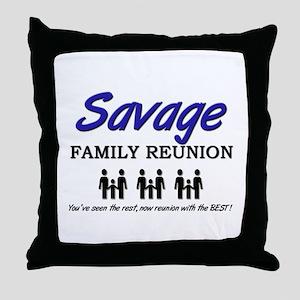 Savage Family Reunion Throw Pillow