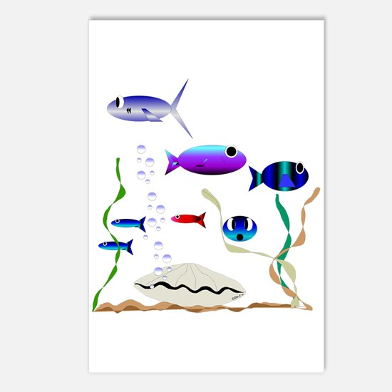Swimming with the Fishes Postcards (Package of 8)