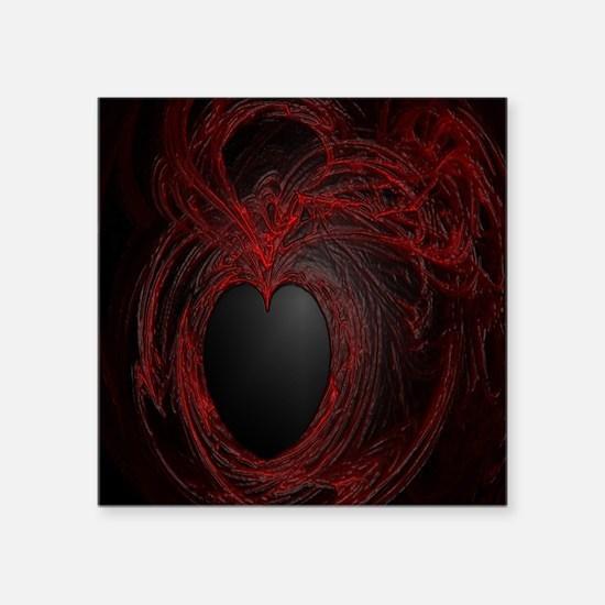 """My plastic heart Square Sticker 3"""" x 3"""""""