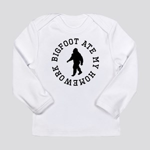 Bigfoot Ate My Homework Long Sleeve T-Shirt