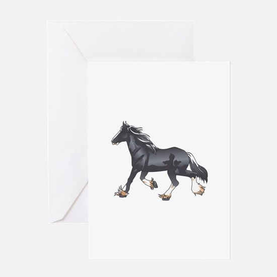 DRAFT HORSE Greeting Cards