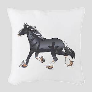 DRAFT HORSE Woven Throw Pillow