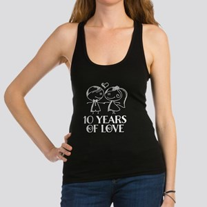 10th Anniversary chalk couple Racerback Tank Top